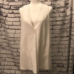 NWT 1. State White Vest with sheer back size Small
